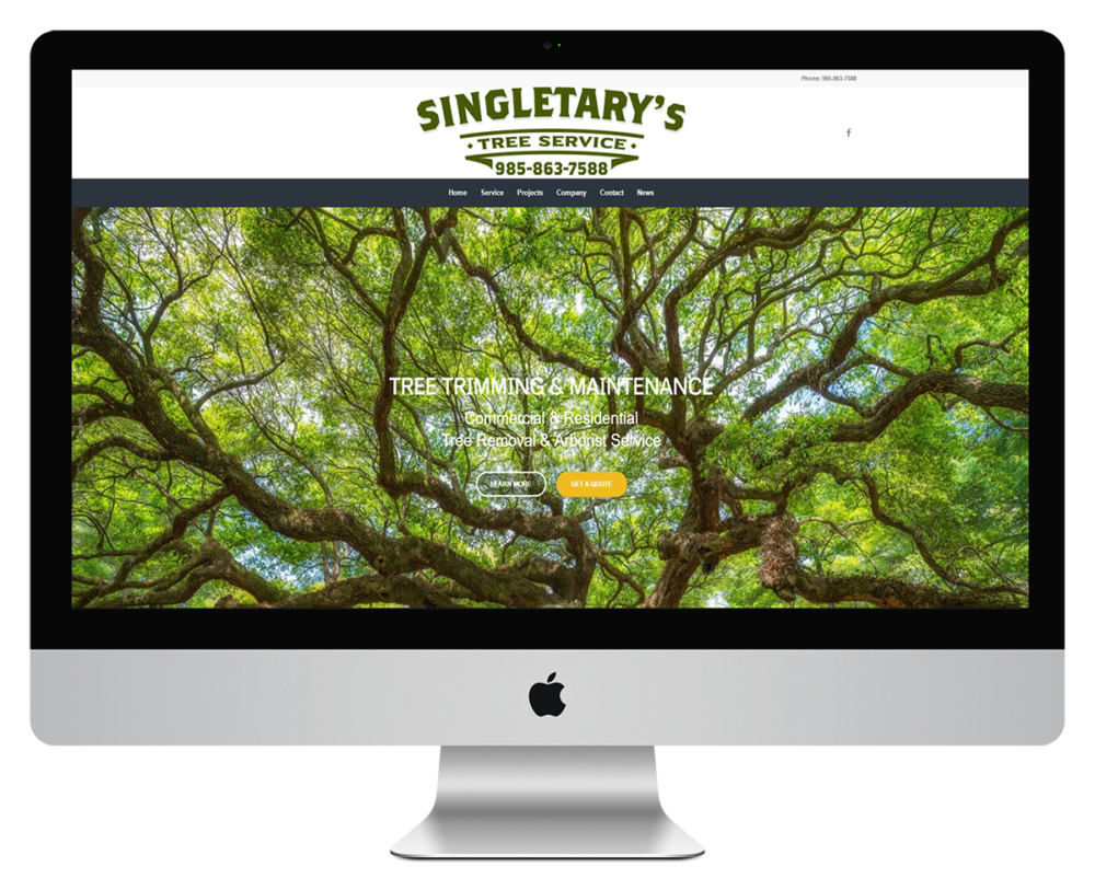 Singletary's Tree Service Website