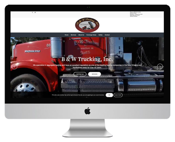 B and W Trucking Web Design