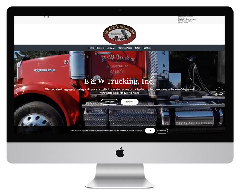 B and W Trucking Web Design