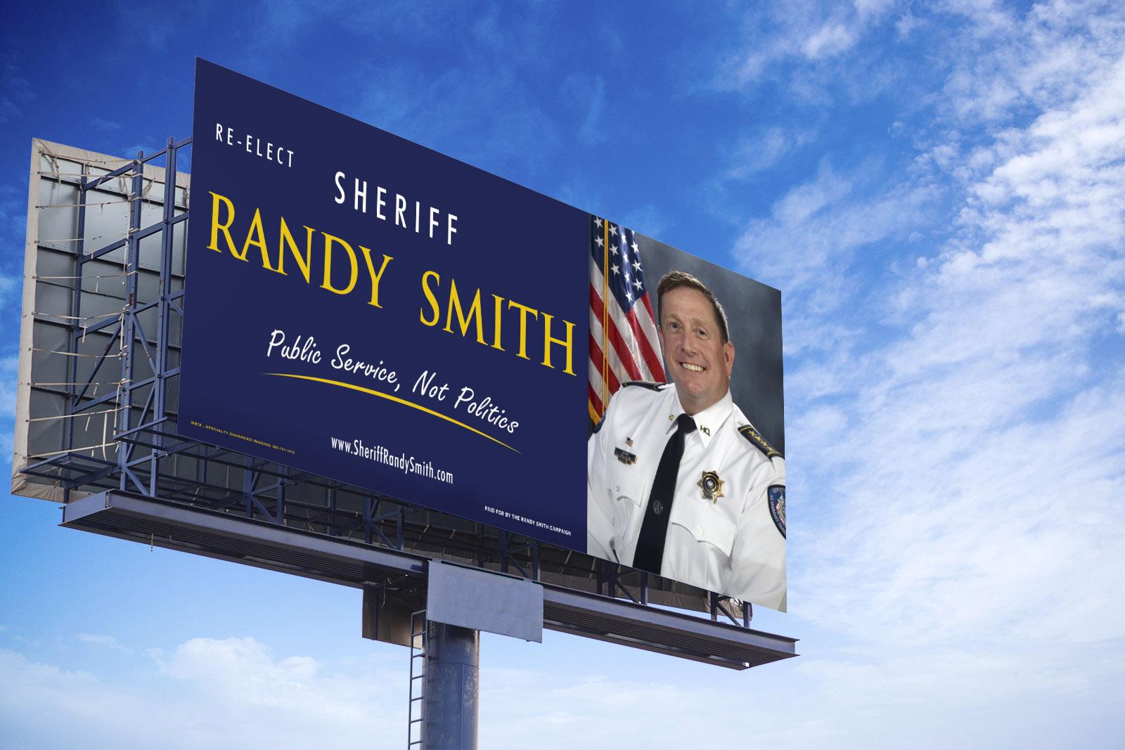 Billboard for Sheriff Randy Smith