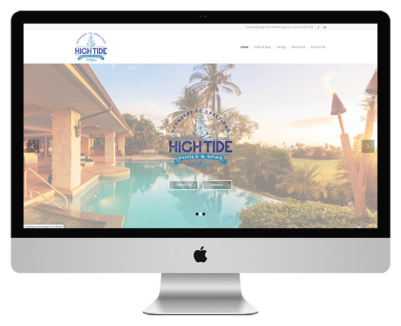 High Tide Pools and Supplies Web Design2