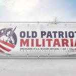 Old Patriot Militaria Logo Design