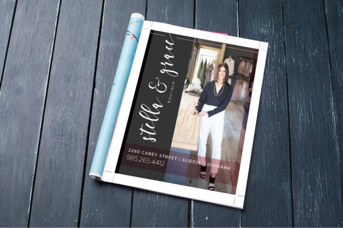 Stella and Grace Magazine Ad Design