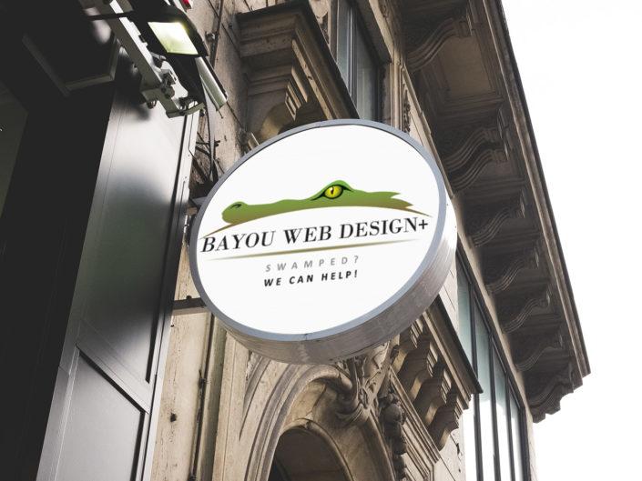 logo design Bayou Web Design+